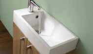 Convenient sized en-suite vanity unit 250mm x 500mm