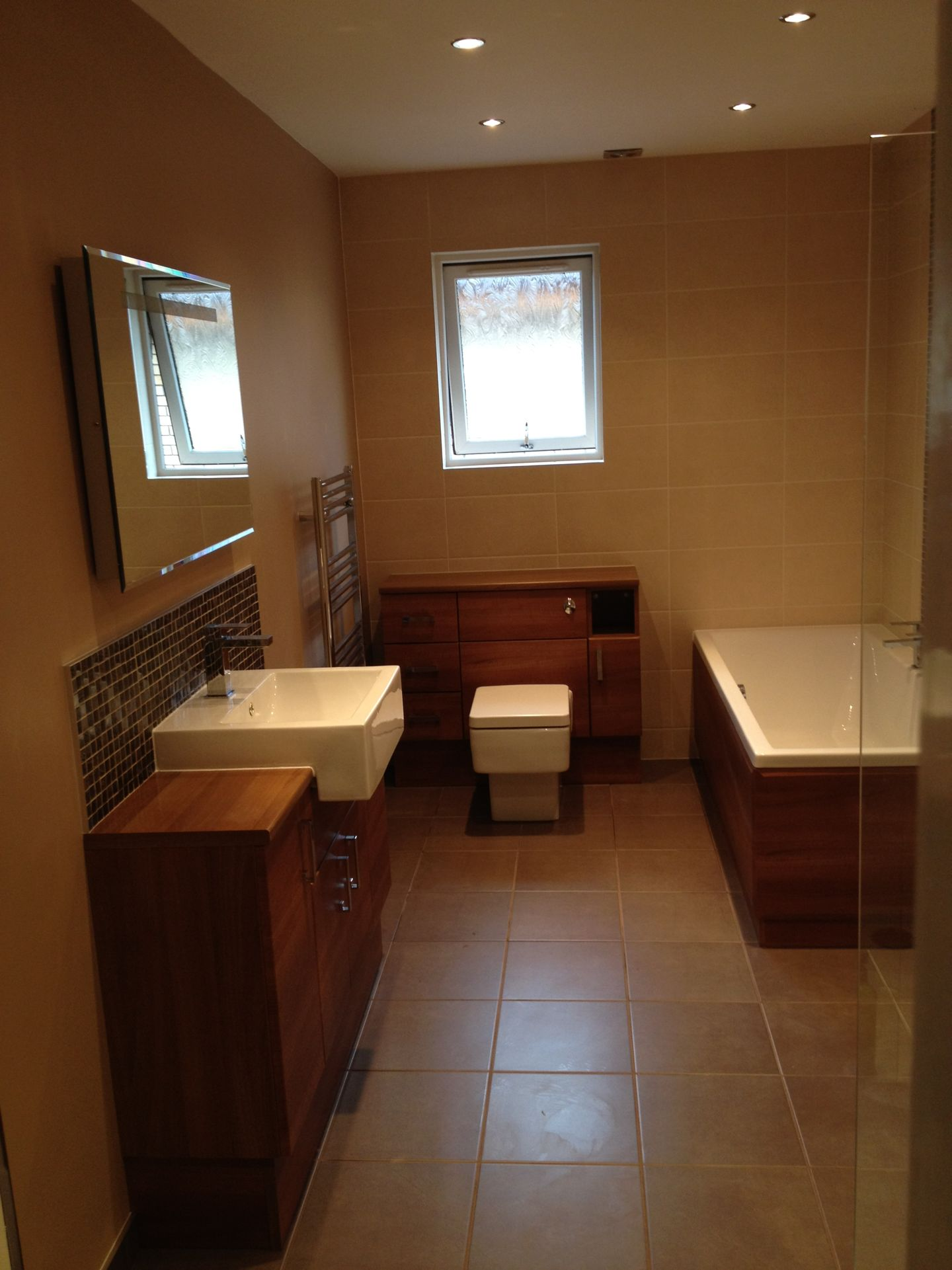 Bathroom Lighting Glasgow before and after photos - glasgow bathroom design & installation