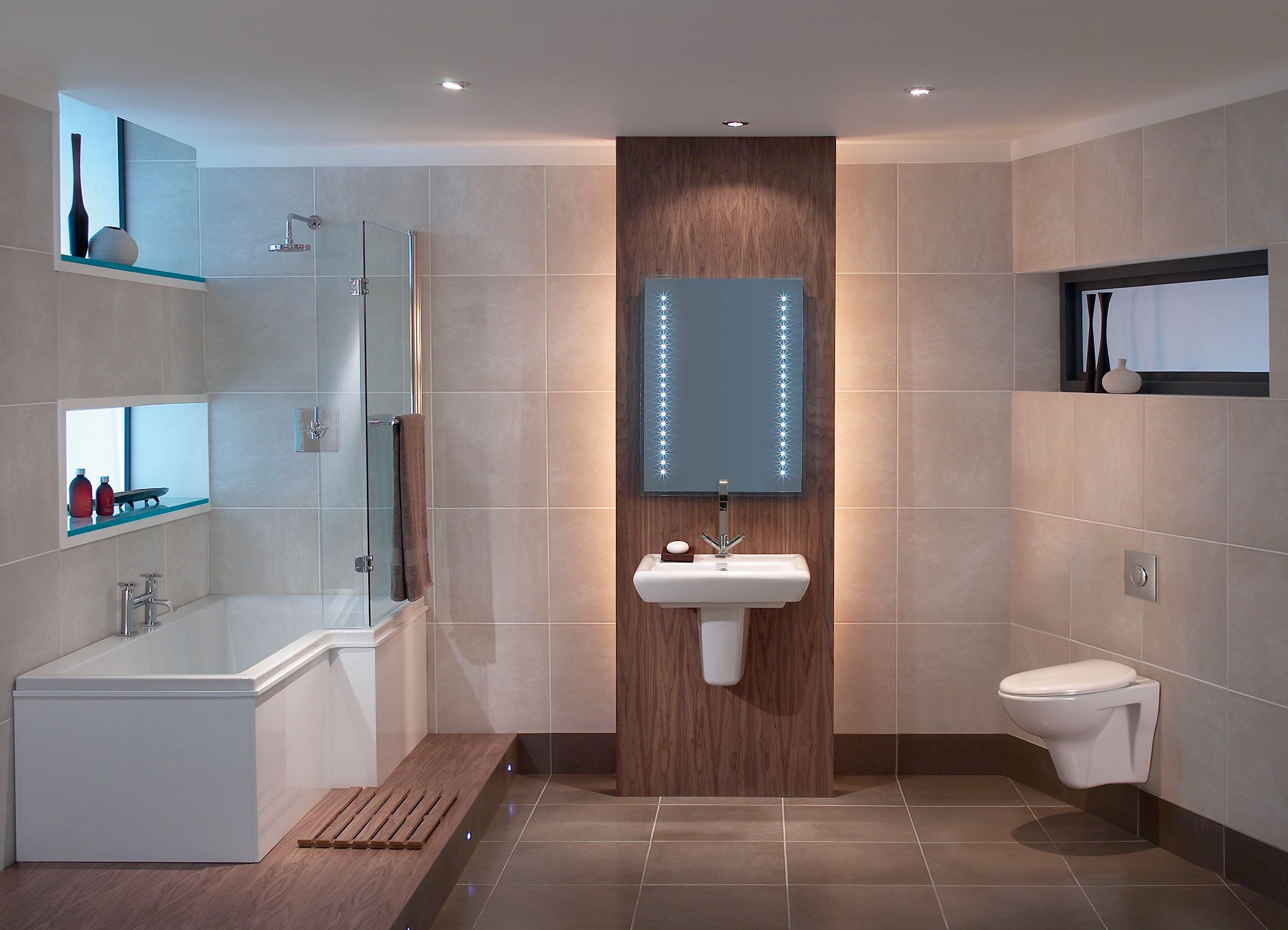 Bathroom suites glasgow - Libra Suite With L Shaped Bath And Wall Hung Basin W C