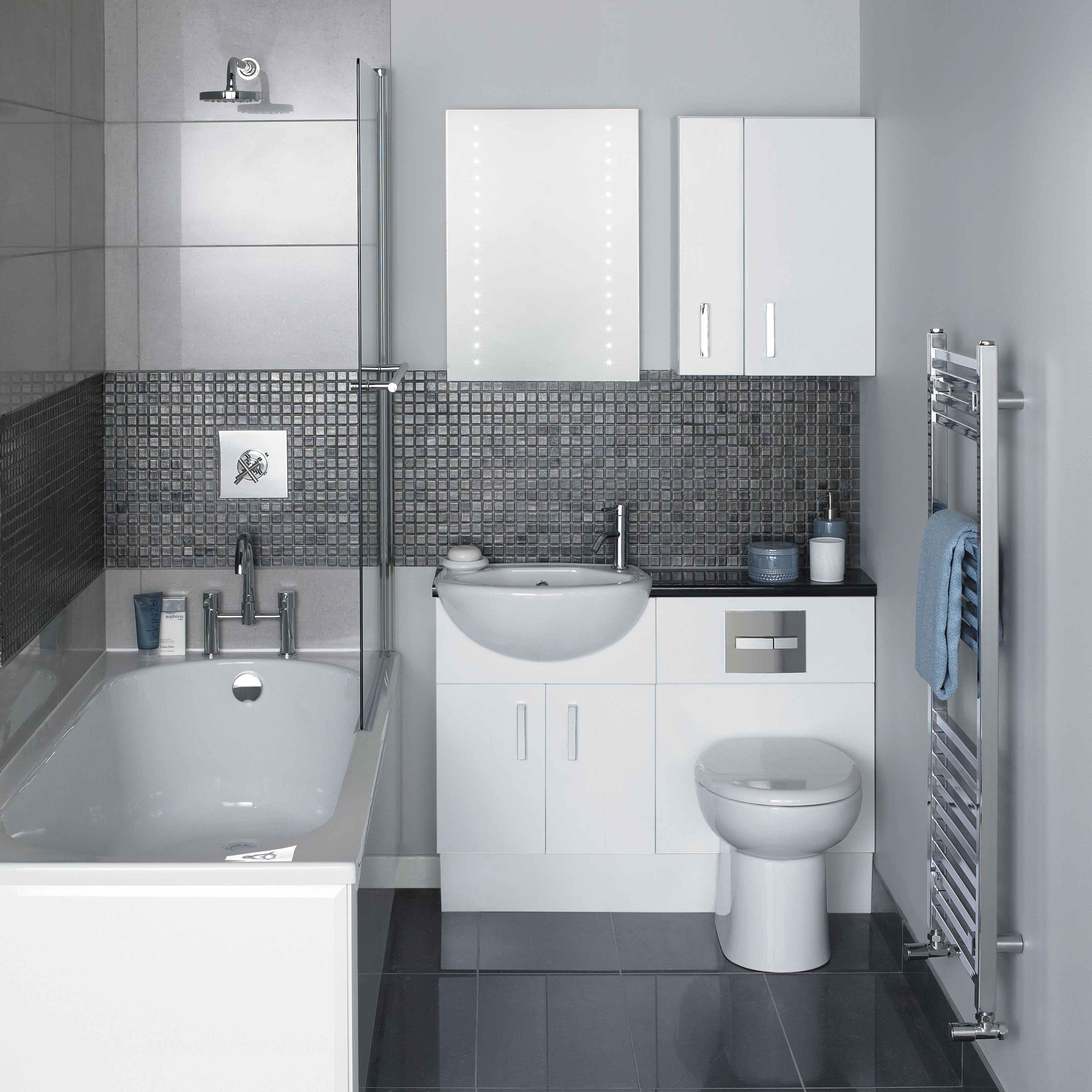 Bathroom suites glasgow - Linear Fitted Furniture In White In En Suite 200mm Deep