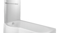 Showerbath (P bath) with standard screen