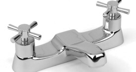 Madrid bath filler with modern cross head styling.