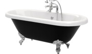Richmond black roll top bath (also in white