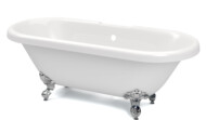 Richmond Roll Top bath in white