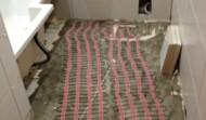 Under floor heating installed using matting.